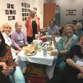 WILPF members meet at WILPF's literature table