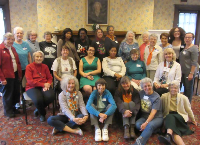 Attendees at the fall 2016 WILPF New England Retreat