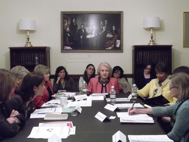 Participants at the June 6 Roundtable Discussion
